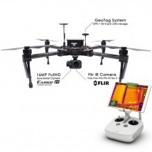 Thermal gimbal for DJI Matrice 100 with 16mp hd camera