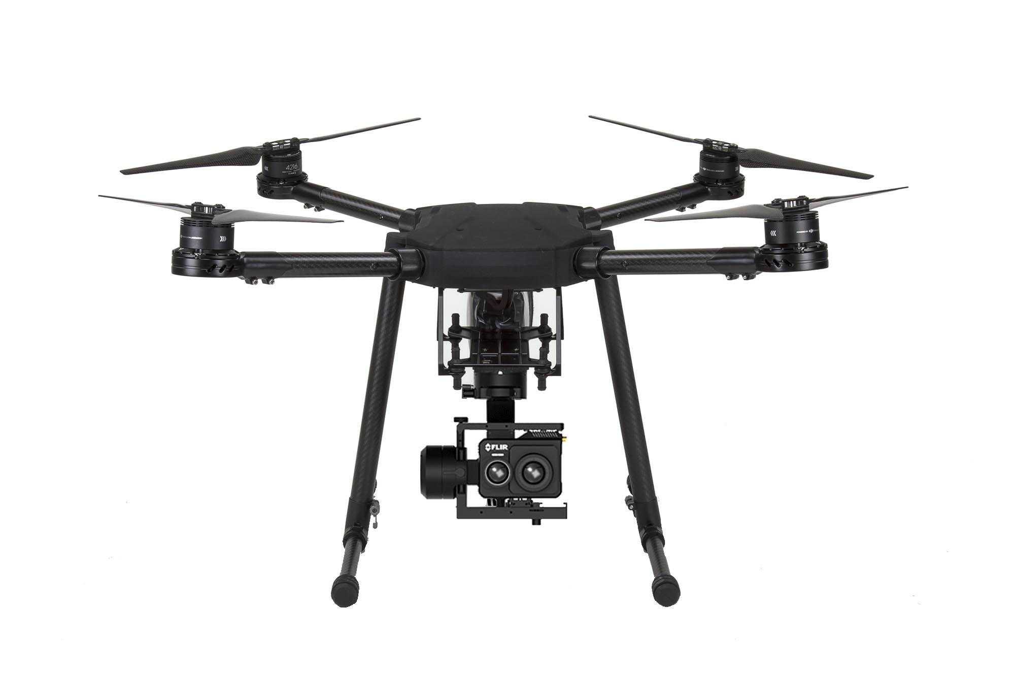 thermal inspection drone with flir duo pro gimbal