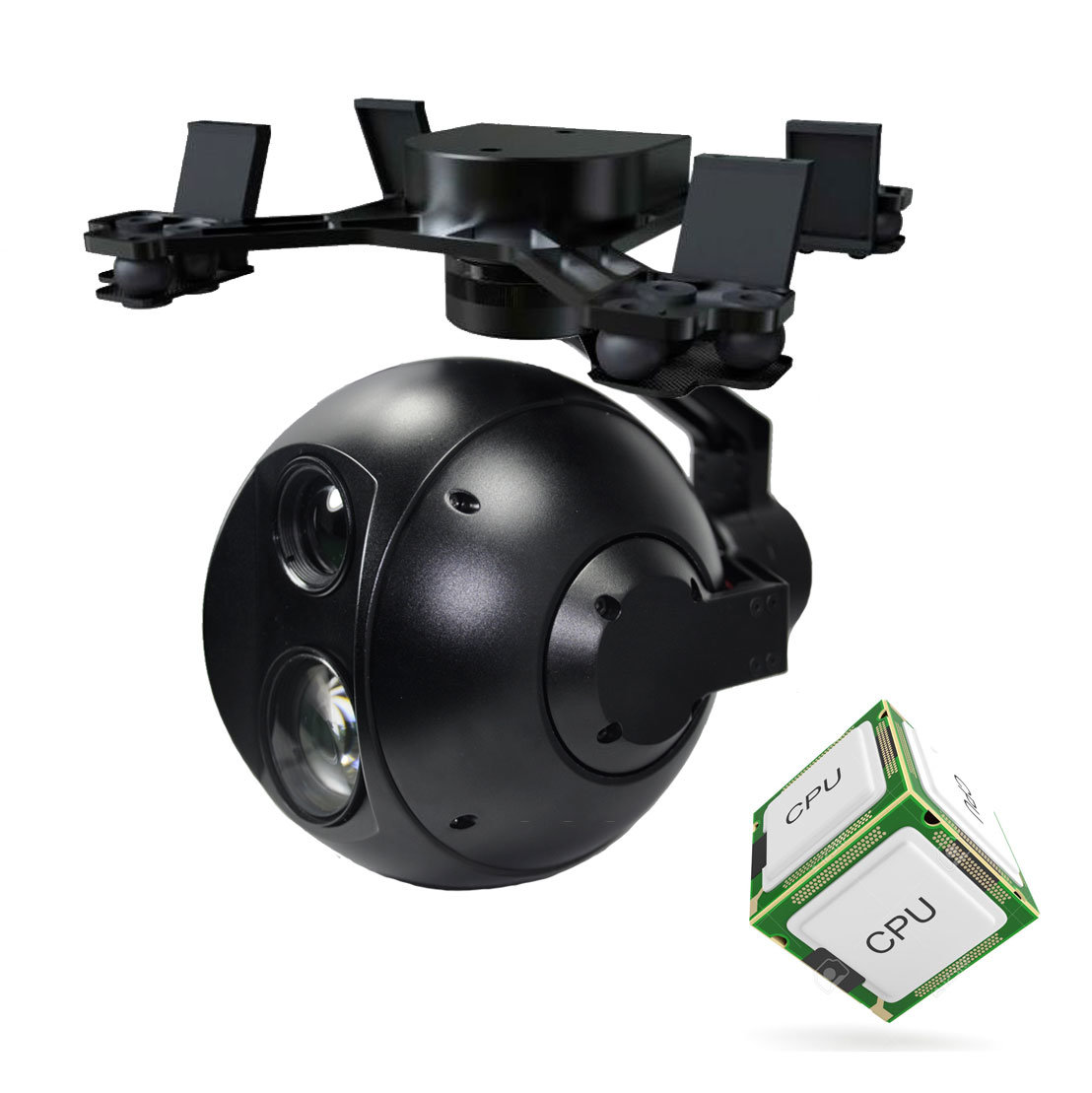 multisensor gyro stabilized gimbal with video processor