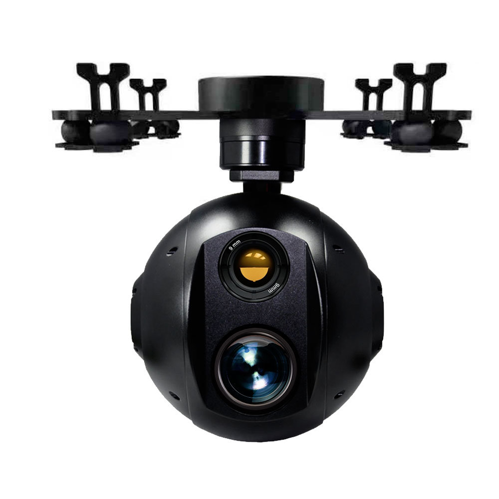 dual sensor gimbal with zoom and thermal image