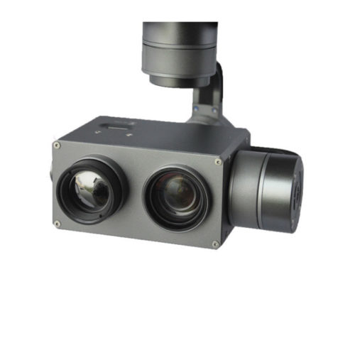 dual sensor thermal zoom camera for inspection and search and rescue