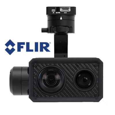 dual sensor 30xzoom gimbal for flir vue pro thermal camera geotag