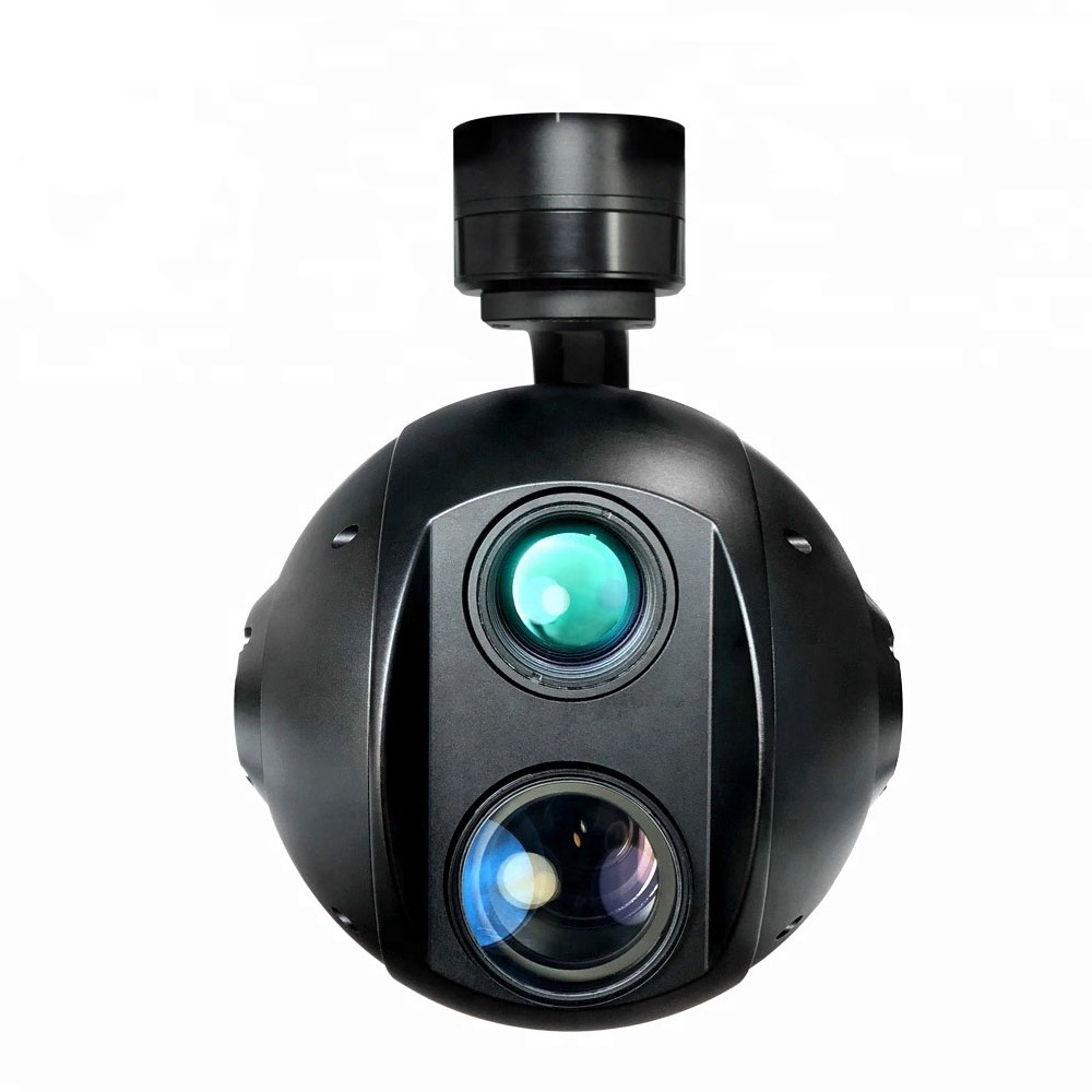 dual sensor 30x zoom camera and thermal camera for security and search and rescue