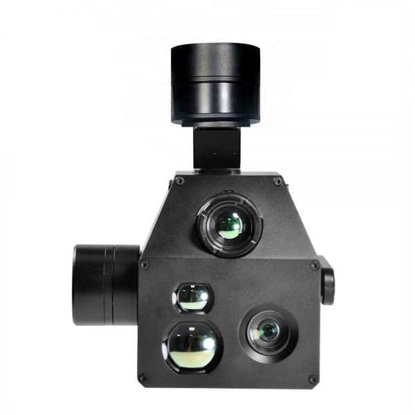 multisensor gimbal with thermal camera, zoom 10x and laser distometer